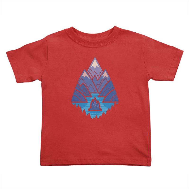 Mountain Lake : blue Kids Toddler T-Shirt by Waynem