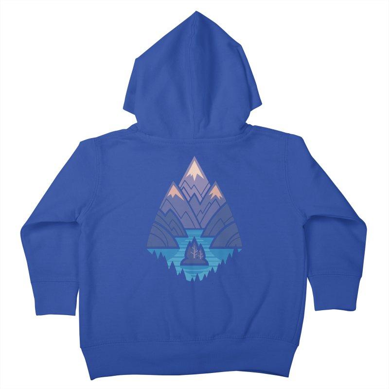 Mountain Lake : blue Kids Toddler Zip-Up Hoody by Waynem