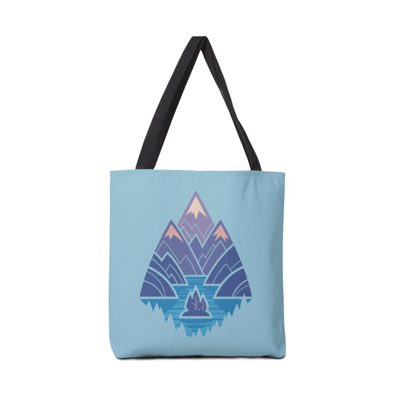 Mountain Lake : blue Accessories Tote Bag Bag by Waynem