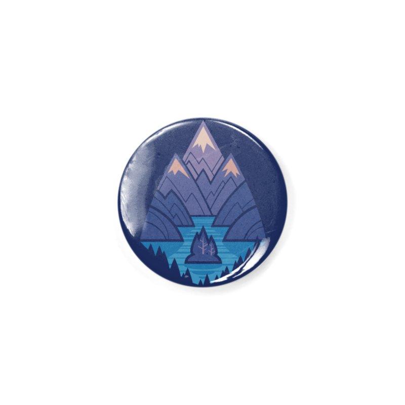 Mountain Lake : Dark Blue Accessories Button by Waynem