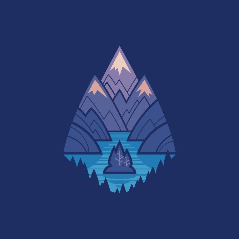 Mountain Lake : Dark Blue Accessories Face Mask by Waynem