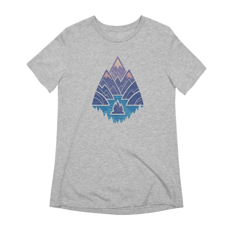 Mountain Lake : Dark Blue Women's Extra Soft T-Shirt by Waynem
