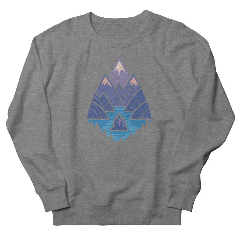 Mountain Lake : Dark Blue Men's French Terry Sweatshirt by Waynem