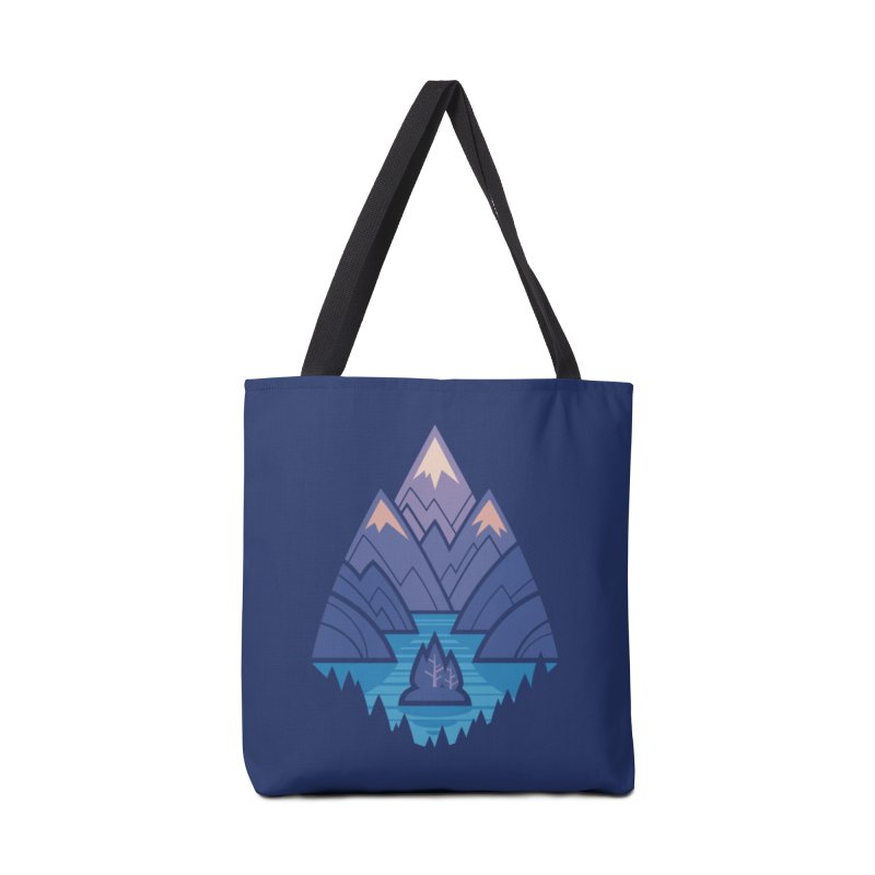 Mountain Lake : Dark Blue Accessories Tote Bag Bag by Waynem