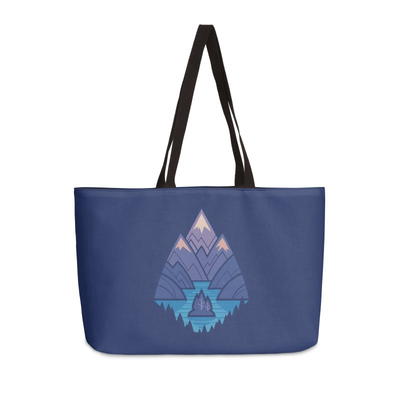 Mountain Lake : Dark Blue Accessories Weekender Bag Bag by Waynem