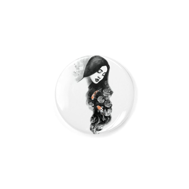 Koi Pond Dreaming Accessories Button by Waynem