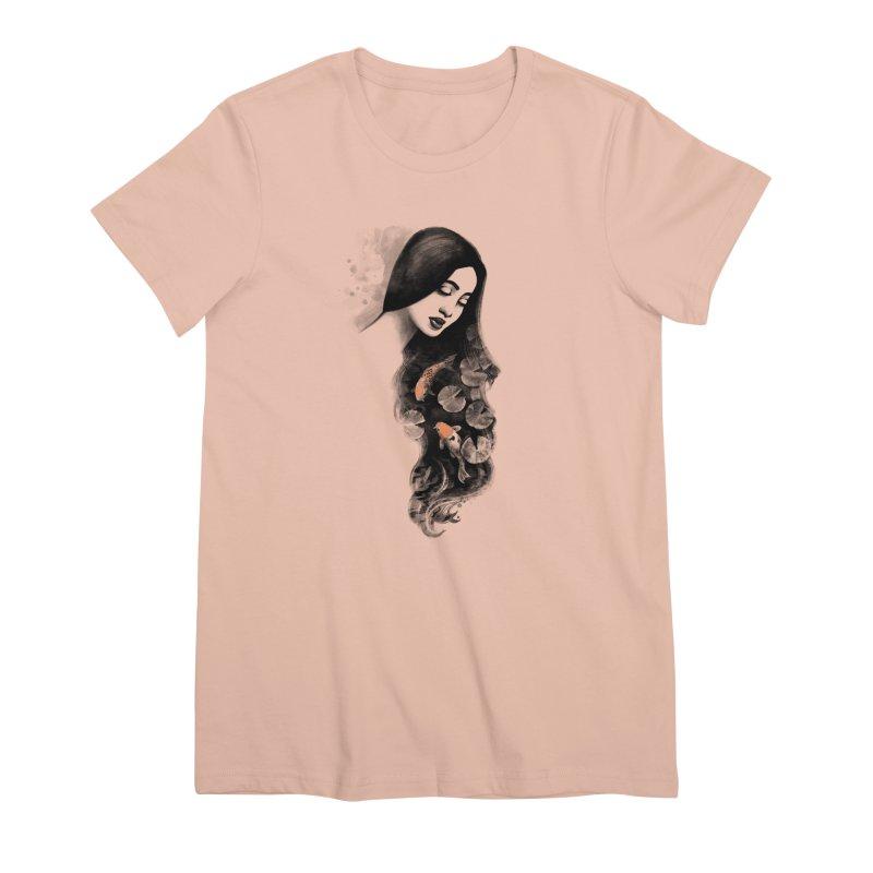 Koi Pond Dreaming Women's Premium T-Shirt by Waynem