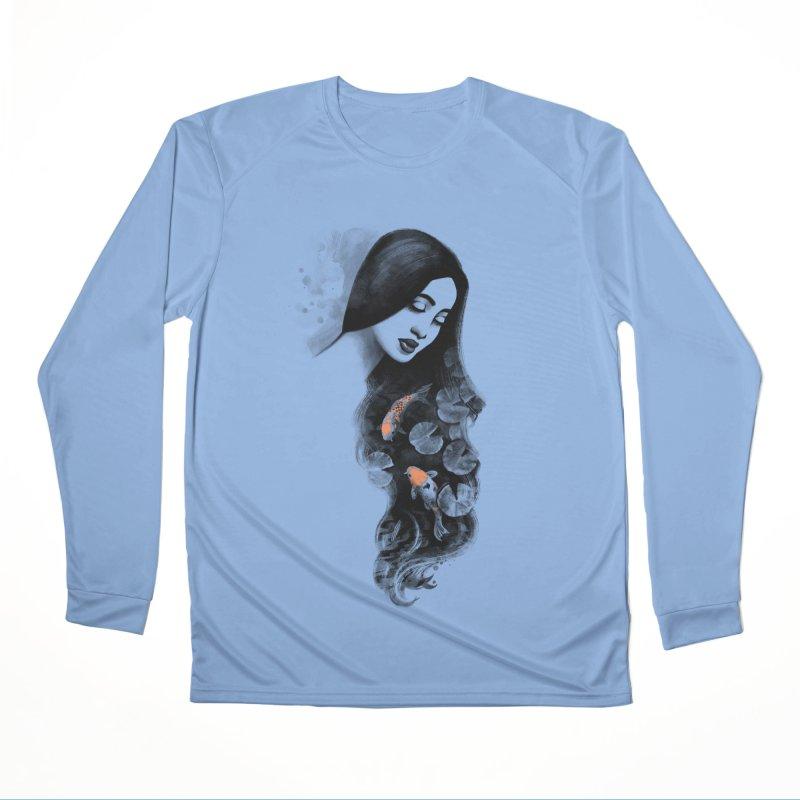 Koi Pond Dreaming Men's Performance Longsleeve T-Shirt by Waynem