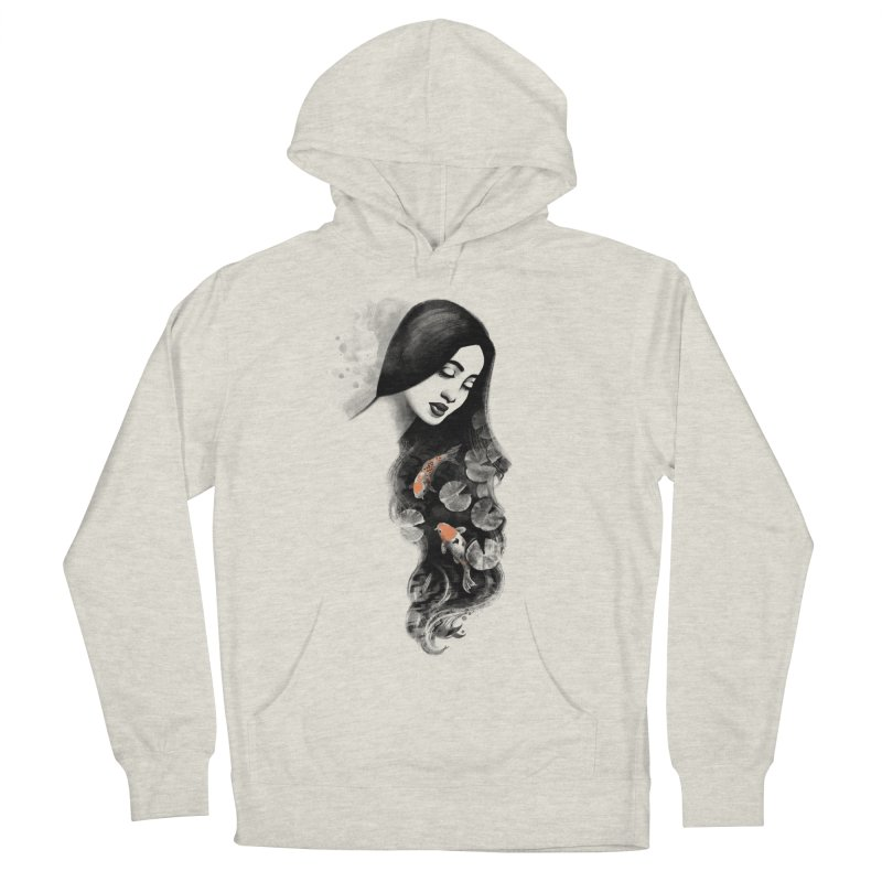 Koi Pond Dreaming Women's French Terry Pullover Hoody by Waynem