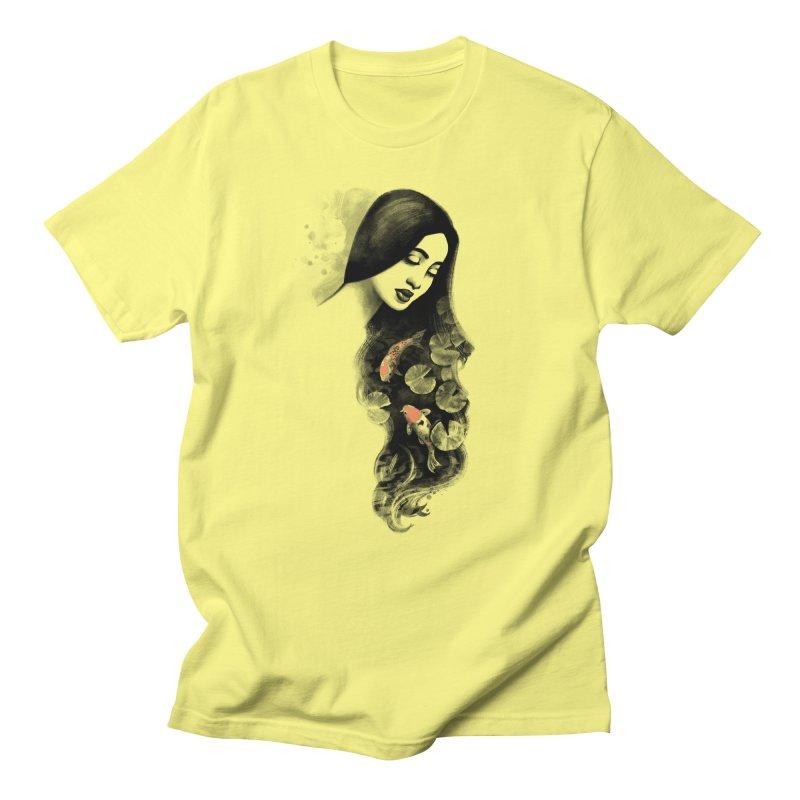Koi Pond Dreaming Men's Regular T-Shirt by Waynem