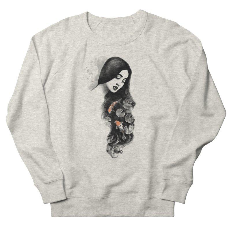 Koi Pond Dreaming Women's French Terry Sweatshirt by Waynem