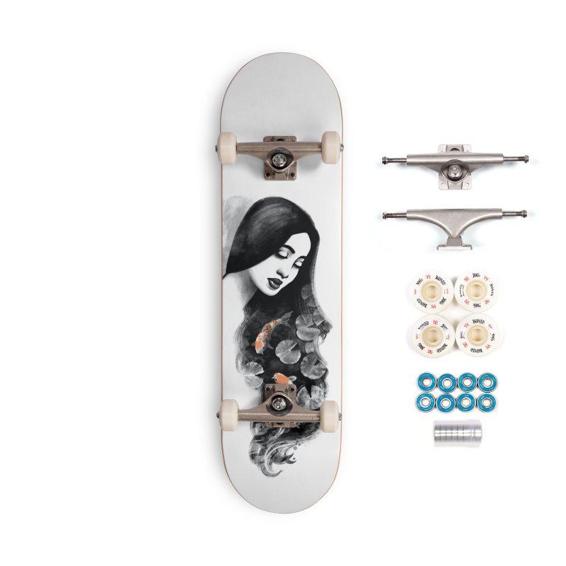 Koi Pond Dreaming Accessories Complete - Premium Skateboard by Waynem