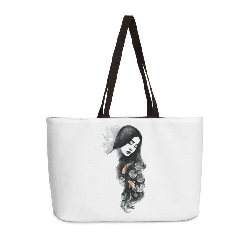 Koi Pond Dreaming Accessories Weekender Bag Bag by Waynem
