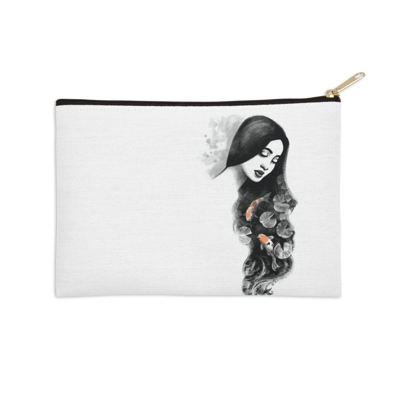 Koi Pond Dreaming Accessories Zip Pouch by Waynem