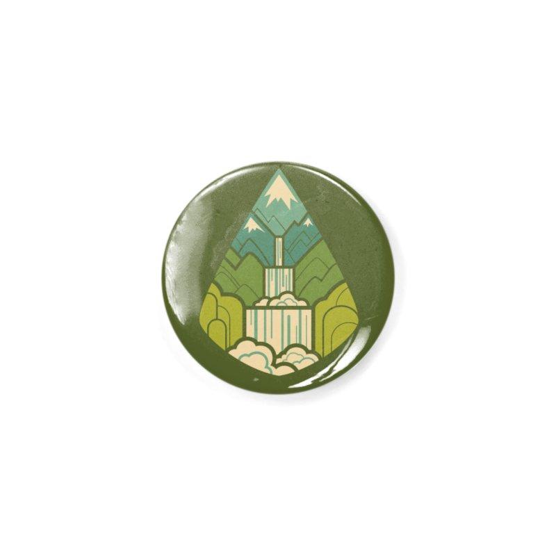 Mountain Cascade Accessories Button by Waynem