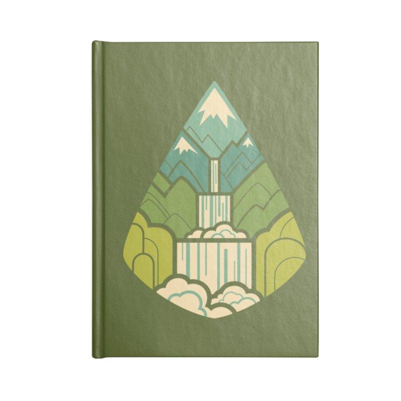 Mountain Cascade Accessories Lined Journal Notebook by Waynem