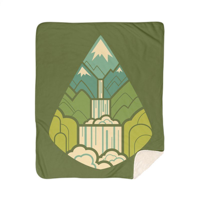 Mountain Cascade Home Sherpa Blanket Blanket by Waynem