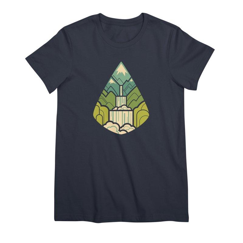 Mountain Cascade Women's Premium T-Shirt by Waynem