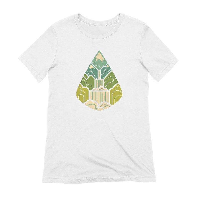 Mountain Cascade Women's Extra Soft T-Shirt by Waynem