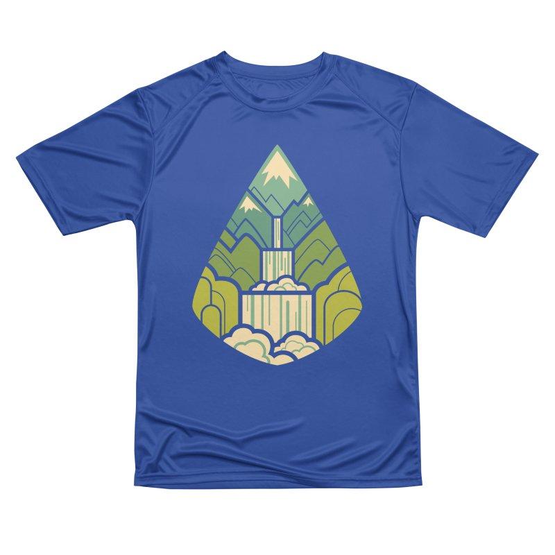 Mountain Cascade Women's Performance Unisex T-Shirt by Waynem