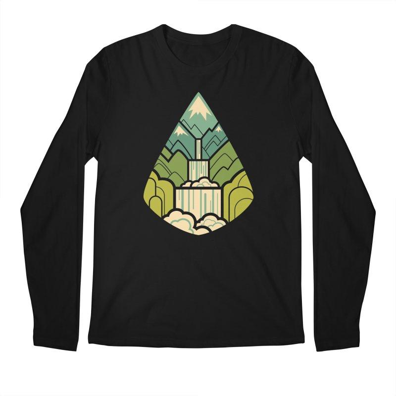 Mountain Cascade Men's Regular Longsleeve T-Shirt by Waynem