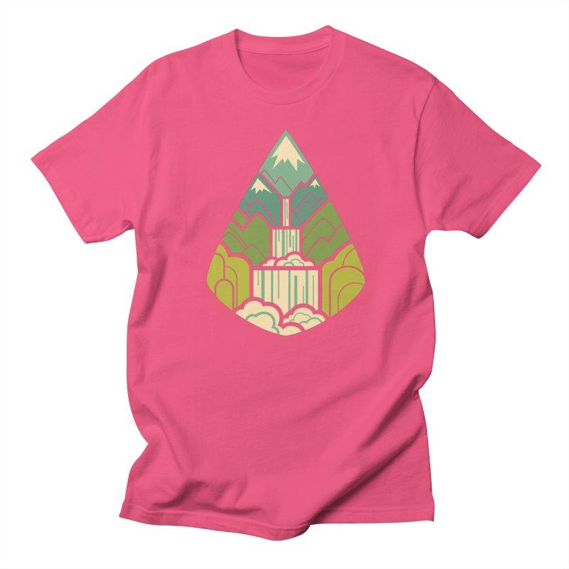 Mountain Cascade Men's Regular T-Shirt by Waynem