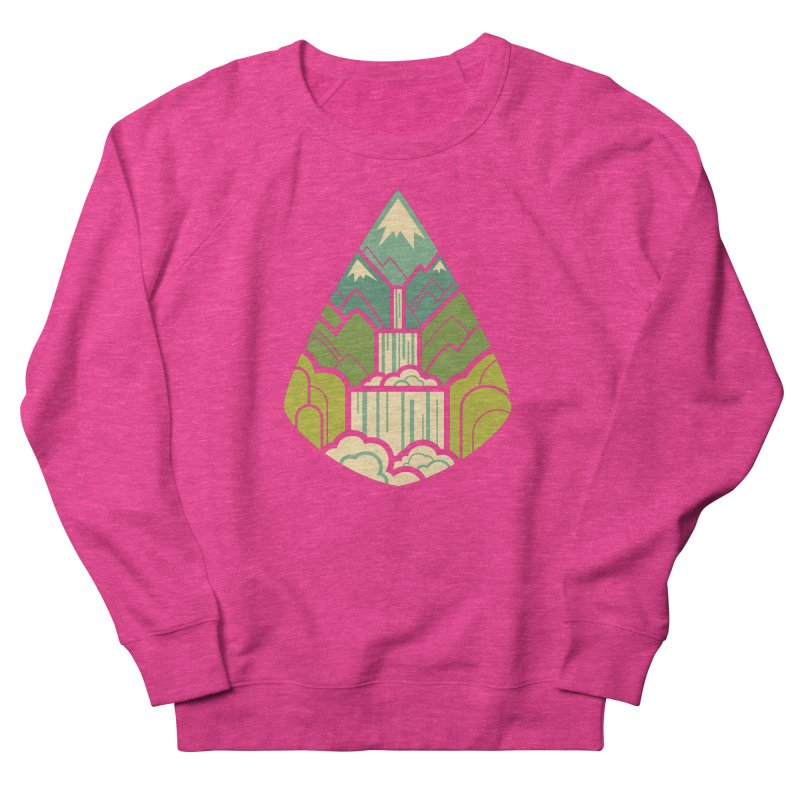 Mountain Cascade Women's French Terry Sweatshirt by Waynem