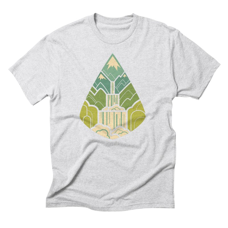 Mountain Cascade Men's Triblend T-Shirt by Waynem