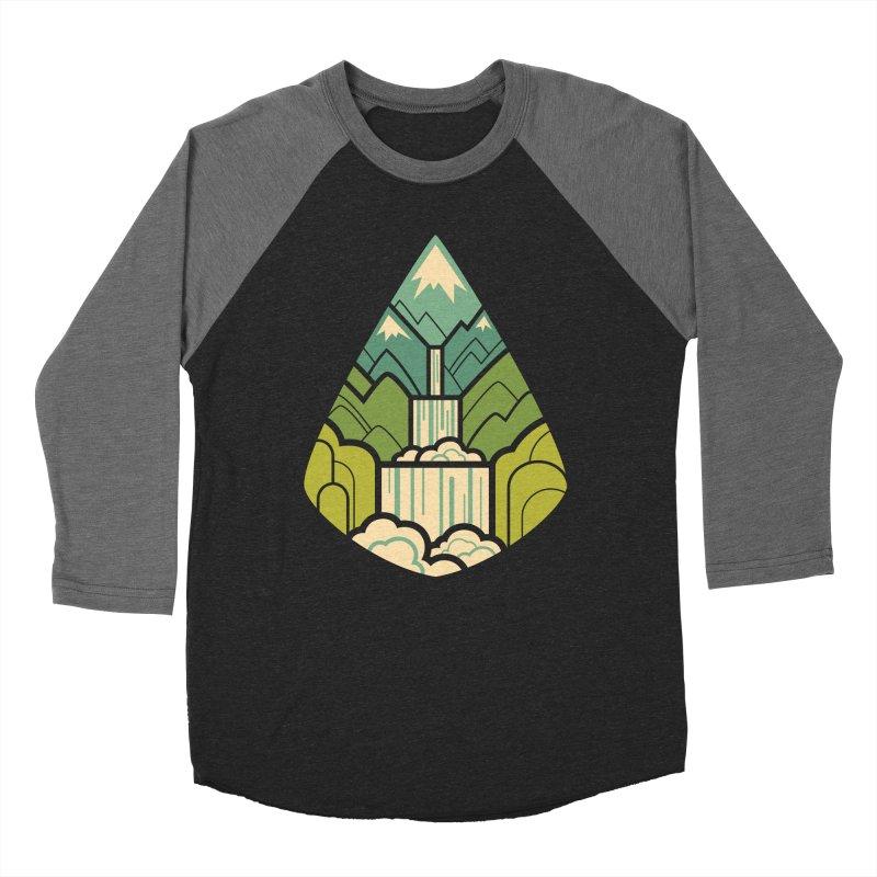 Mountain Cascade Women's Baseball Triblend Longsleeve T-Shirt by Waynem