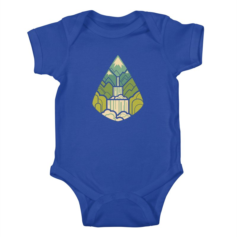 Mountain Cascade Kids Baby Bodysuit by Waynem