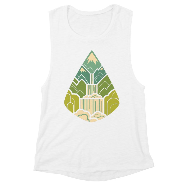 Mountain Cascade Women's Muscle Tank by Waynem