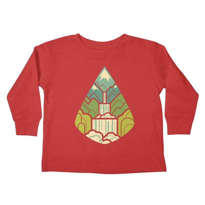 Mountain Cascade Kids Toddler Longsleeve T-Shirt by Waynem