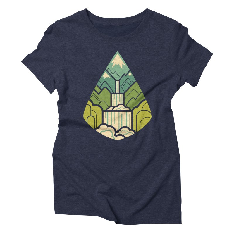 Mountain Cascade Women's Triblend T-Shirt by Waynem