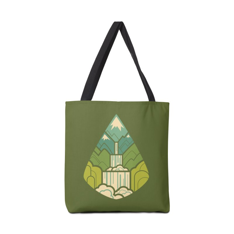 Mountain Cascade Accessories Tote Bag Bag by Waynem