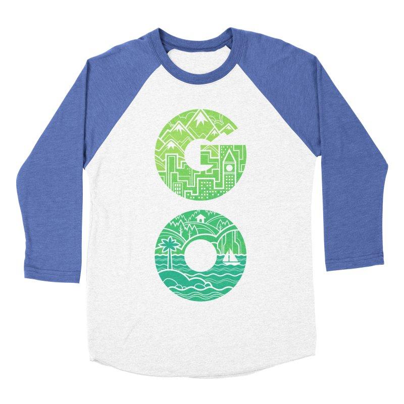 GO Men's Baseball Triblend T-Shirt by Waynem