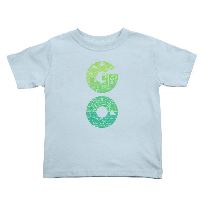 GO Kids Toddler T-Shirt by Waynem