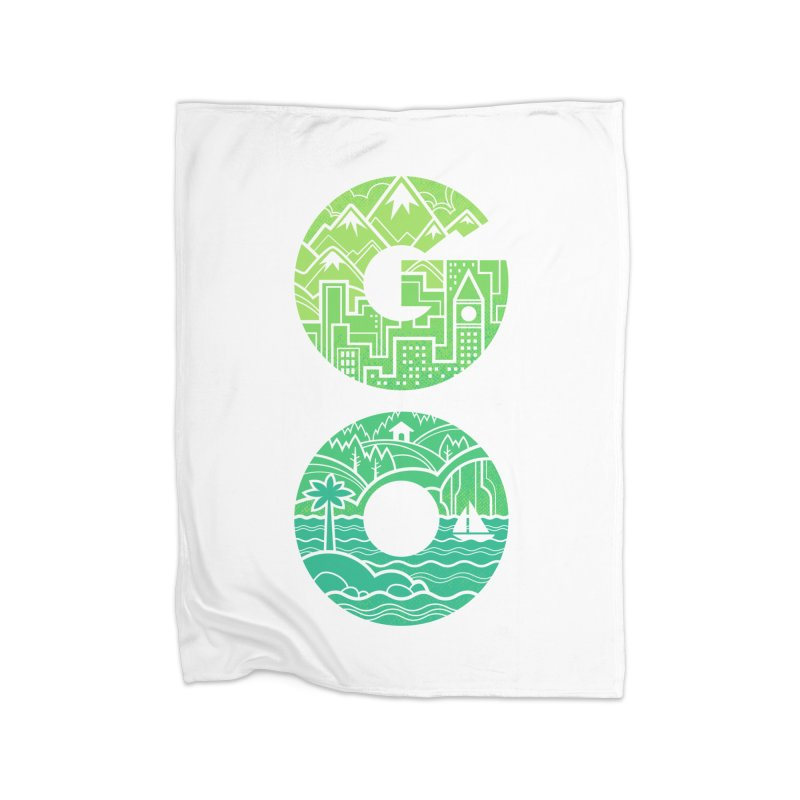GO Home Fleece Blanket by Waynem