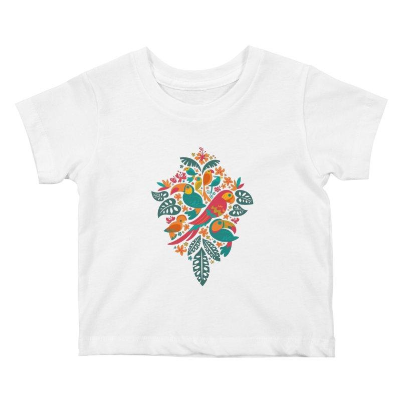 Tropicana Kids Baby T-Shirt by Waynem