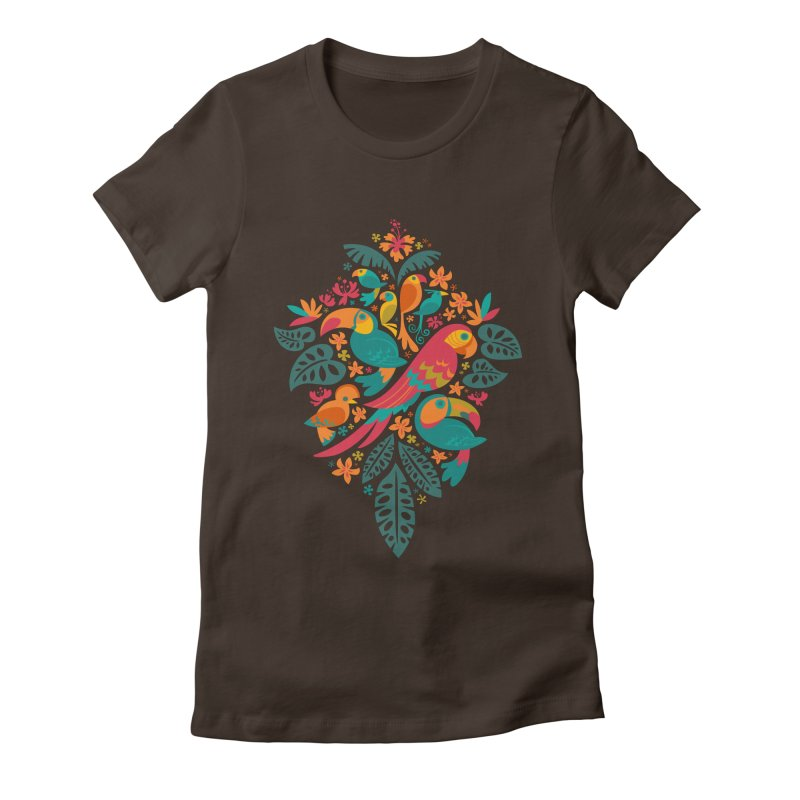 Tropicana Women's Fitted T-Shirt by Waynem
