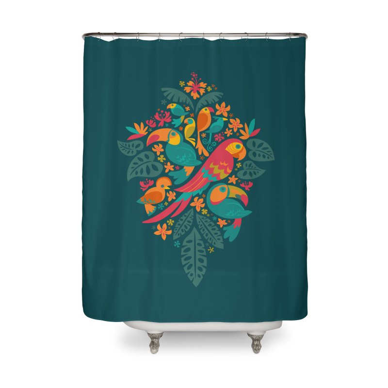 Tropicana Home Shower Curtain by Waynem