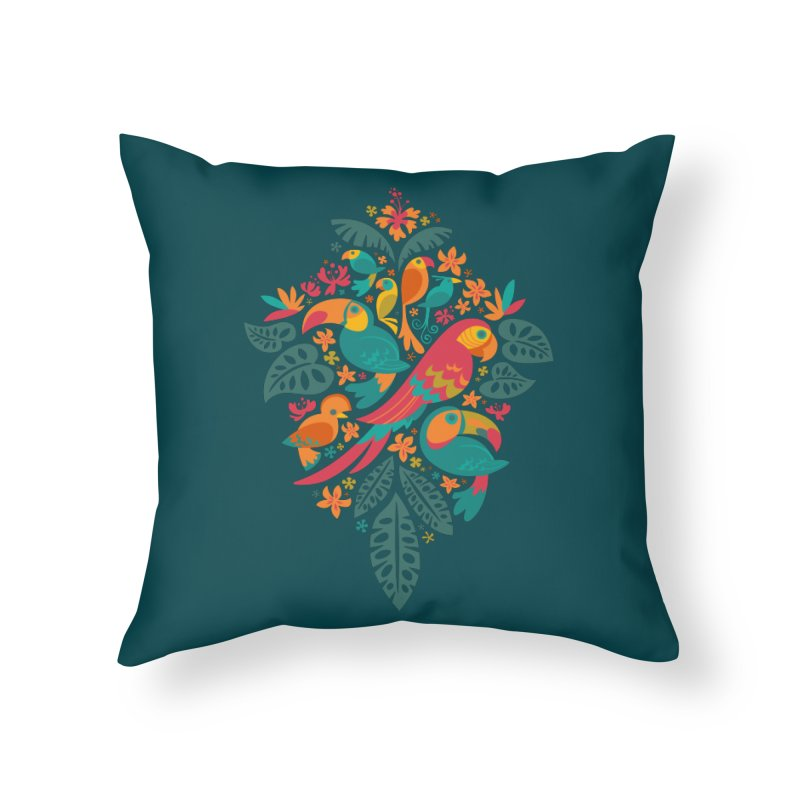 Tropicana Home Throw Pillow by Waynem