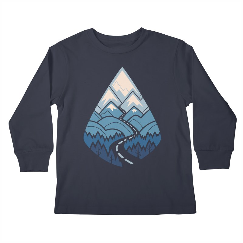 The Road Goes Ever On : Winter Kids Longsleeve T-Shirt by Waynem