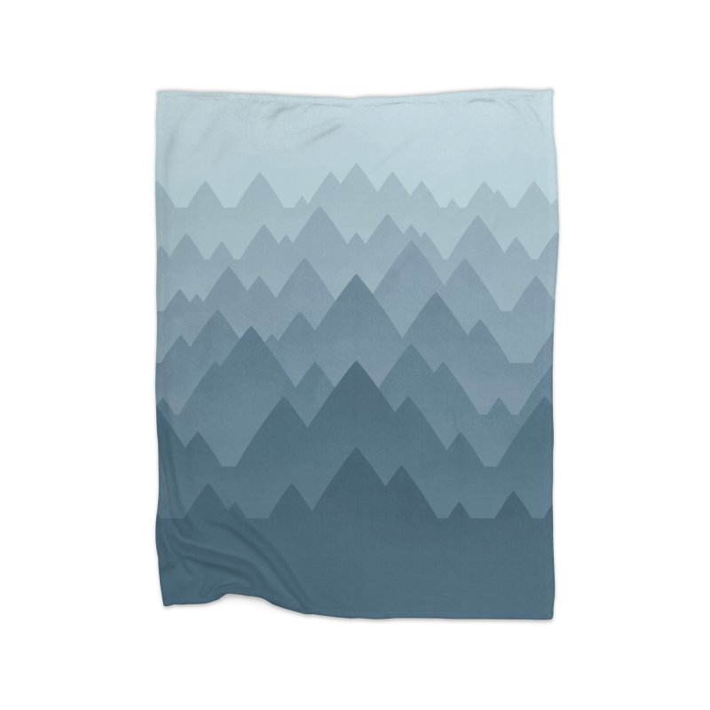 Mountain Vista : Grey Home Blanket by Waynem