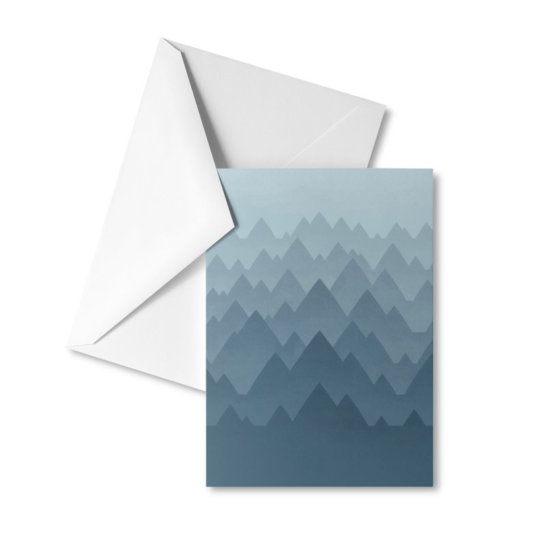 Mountain Vista : Grey Accessories Greeting Card by Waynem