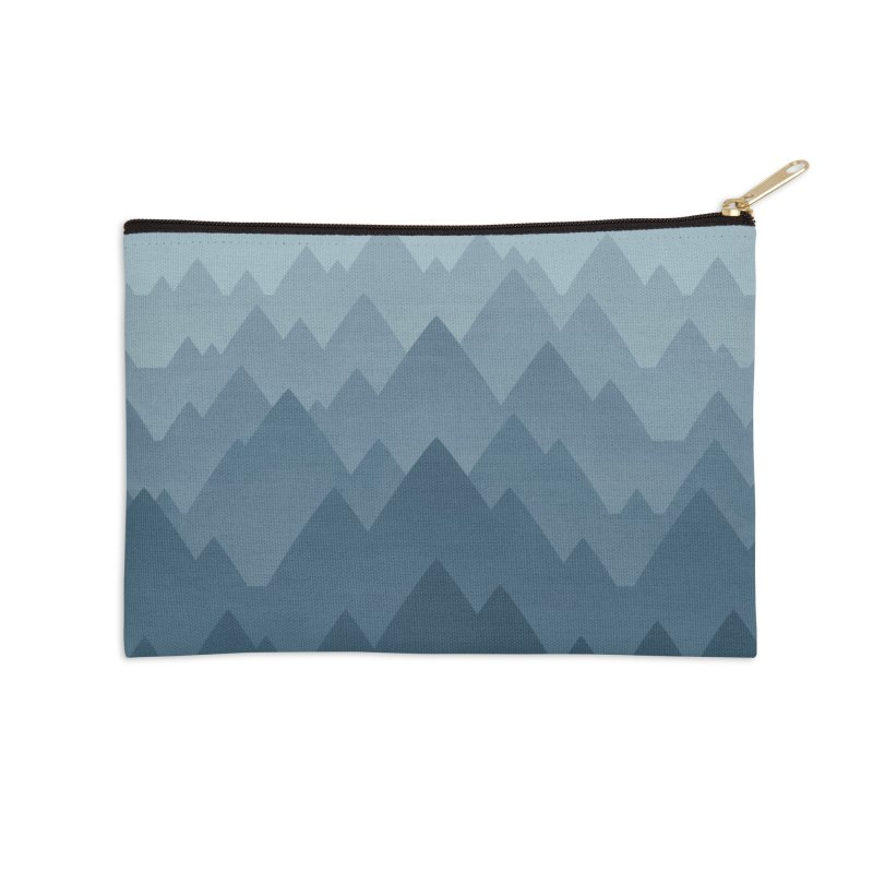 Mountain Vista : Grey Accessories Zip Pouch by Waynem