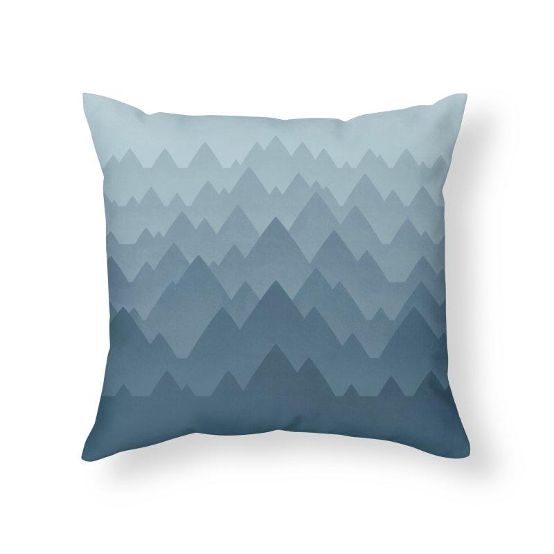 Mountain Vista : Grey Home Throw Pillow by Waynem