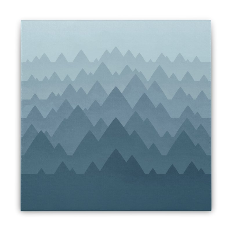 Mountain Vista : Grey Home Stretched Canvas by Waynem