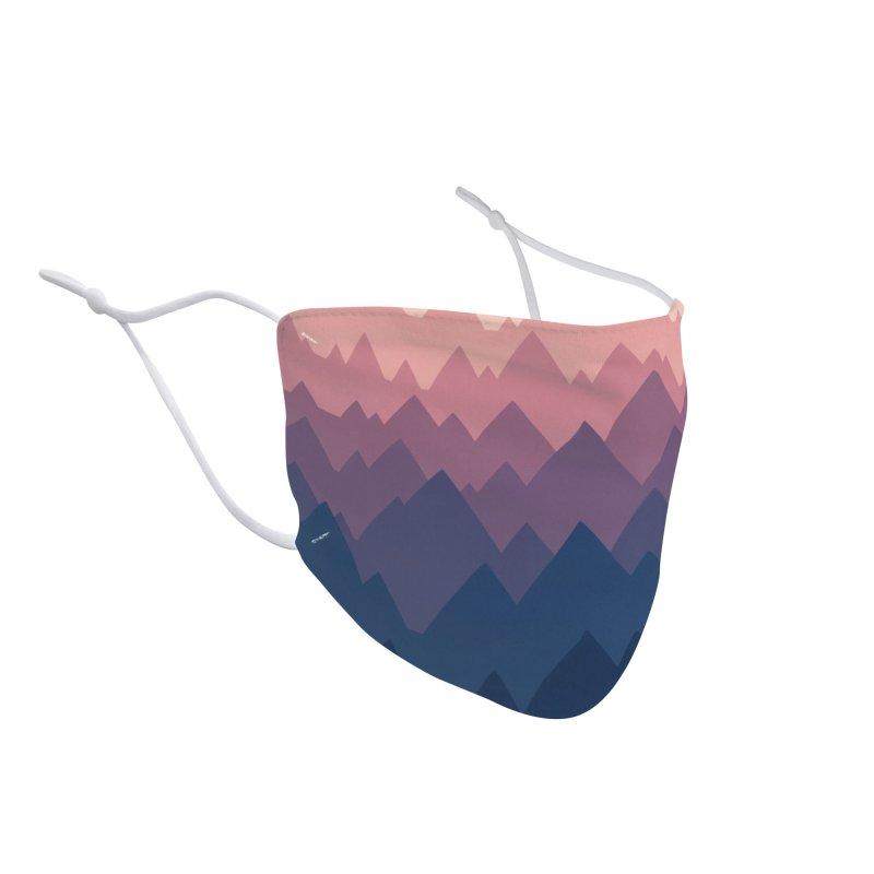 Mountain Vista : Sunset Accessories Face Mask by Waynem