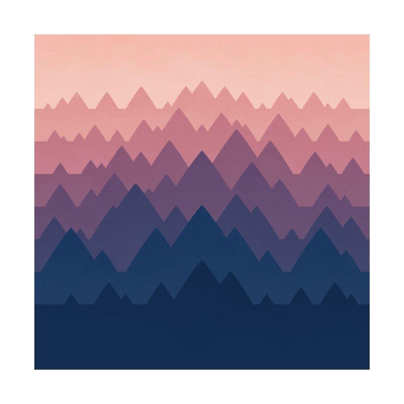 Mountain Vista : Sunset Men's Cut & Sew by Waynem