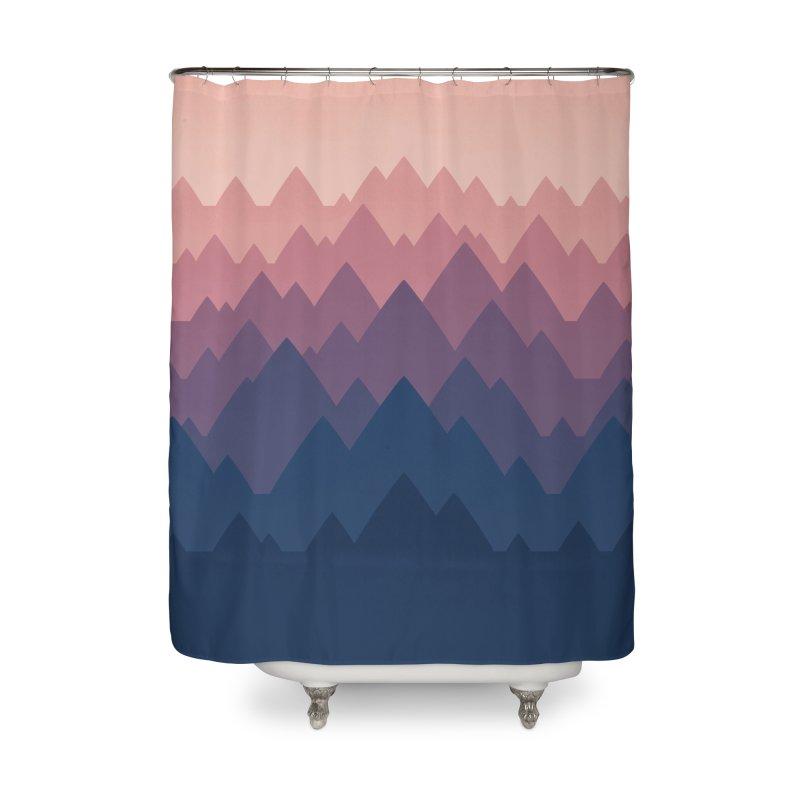 Mountain Vista : Sunset Home Shower Curtain by Waynem